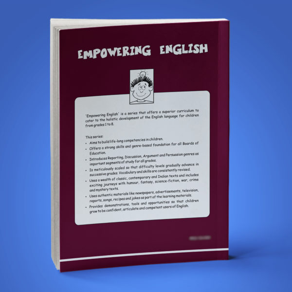 Empowering English Text Book Class 6 back