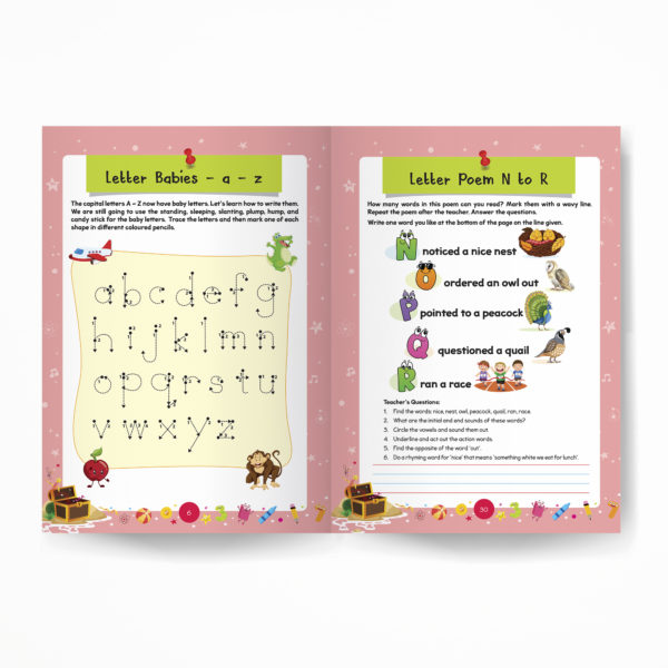 Junior KG book / Pre-Primary book / Kindergarten book inside pages