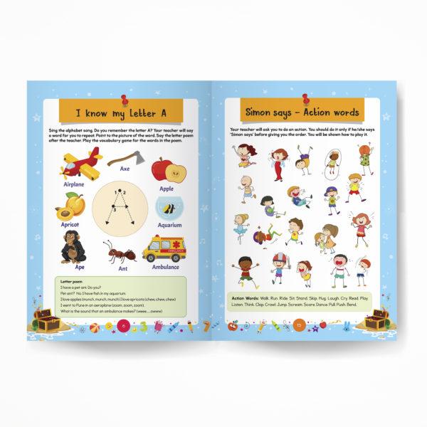 Senior KG book / Pre-Primary book / Kindergarten book inside pages